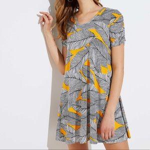 Loft Fern Short Sleeve Swing Dress